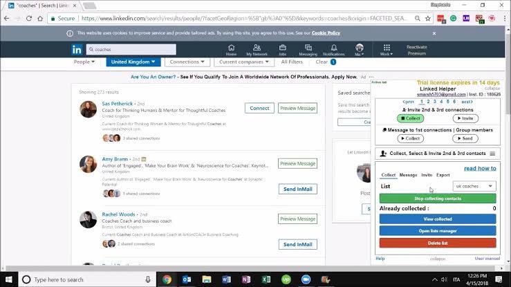 Linkedin helper extension